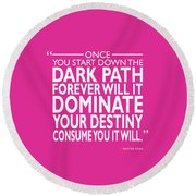 The Dark Path Round Beach Towel