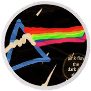 The Dark Side Of The Moon  Round Beach Towel