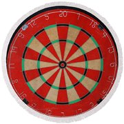 The Dart Board Round Beach Towel