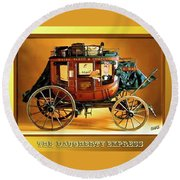 The Daugherty Express Round Beach Towel