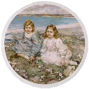 The Daughters Of Bertram Roberts Round Beach Towel