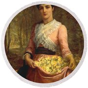 The Daughters Of Our Empire. England- The Primrose Round Beach Towel