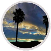 The Dawn Of A New Day 3 Round Beach Towel