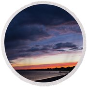 The Day Rests Round Beach Towel
