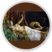 The Death Of Cleopatra Round Beach Towel
