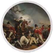 The Death Of General Mercer At The Battle Of Princeton, January 3, 1777  Round Beach Towel