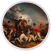 The Death Of General Mercer At The Bottle Of Princeton Round Beach Towel