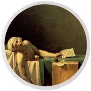 The Death Of Marat Round Beach Towel