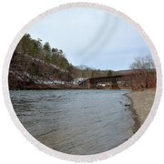 The Delaware River Round Beach Towel