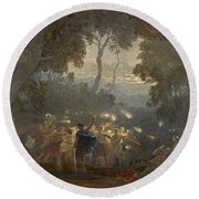 The Dell Of Comus Round Beach Towel