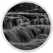 The Dells Of The Eau Claire Panoramic Round Beach Towel