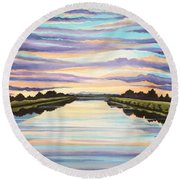 The Delta Experience Round Beach Towel