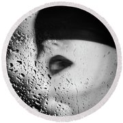 The Depth Of Self-delusion Round Beach Towel
