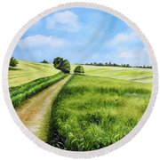 The Derbyshire Dales Round Beach Towel