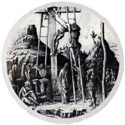 The Descent From The Cross 1475 Round Beach Towel
