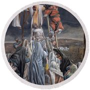 The Descent From The Cross Round Beach Towel by Tissot