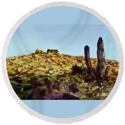 The Desert Place Round Beach Towel