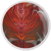 The Devil Inside Round Beach Towel
