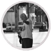 The Devil Man Round Beach Towel