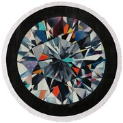 The Diamond Round Beach Towel