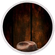 The Dirty Brown Hat Round Beach Towel