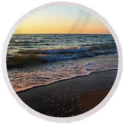 The Disappearance Of Responsibility Round Beach Towel