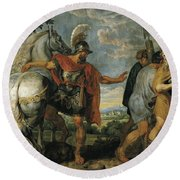 The Dismissal Of The Lictors Round Beach Towel