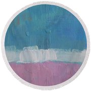 The Divine Field Of Lavender Round Beach Towel