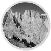 The Dolomites Round Beach Towel
