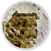 The Dome In The Puddle Round Beach Towel