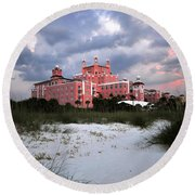 The Don Cesar Round Beach Towel by David Lee Thompson