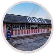 The Donut Shop No Longer 2, Niceville, Florida Round Beach Towel