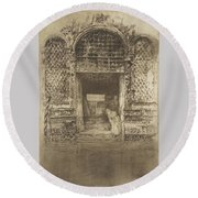The Doorway First Venice Set Round Beach Towel