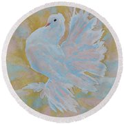 The Dove Round Beach Towel
