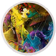 The Dragon Nursery Under The Apple Tree Round Beach Towel