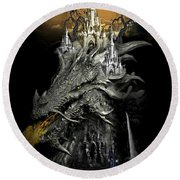 The Dragons Castle Round Beach Towel