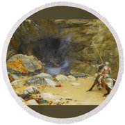 The Dragon's Cave Round Beach Towel