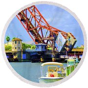 The Drawbridge Round Beach Towel
