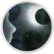 The Dream Of Space Round Beach Towel