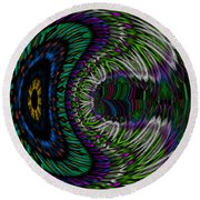 The Dreaming Eye Round Beach Towel