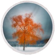 The Dreams Of Winter Round Beach Towel