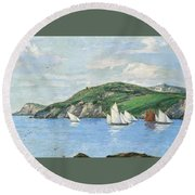 The Drifting Fishing Fleet Round Beach Towel