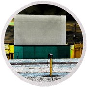 The Drive In Round Beach Towel