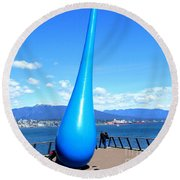 The Drop Vancouver Round Beach Towel