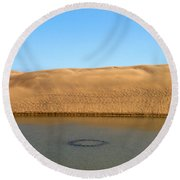 The Dunes Of Maspalomas 3 Round Beach Towel