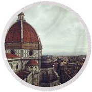The Duomo Round Beach Towel