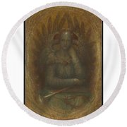 The Dweller In The Innermost Round Beach Towel