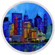 The East Side Round Beach Towel