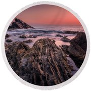 The Edge Of Dreams Round Beach Towel