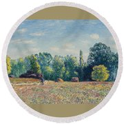 The Edge Of The Forest 2 Round Beach Towel
